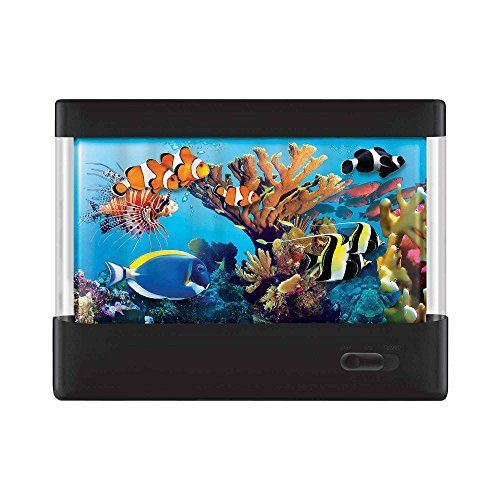 awesome Discovery Kids Animated Tropical Fish Marine Aquarium Lamp With Auto Shut Off