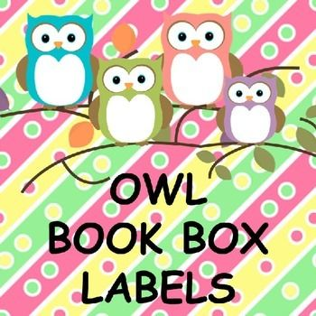 OWL BOOK BOX LABELS