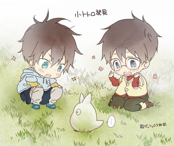 Okumura Twins found a baby totoro I think I'm gonna die of cuteness overload