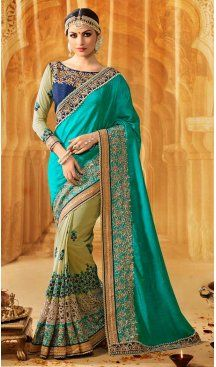 Emerald Color Silk Embroidery Designer Saree | FH583986195 Follow us @heenastyle #saree #sari #sarees #sareelove #sareeindia #indiansaree #designersaree #sareeday #silksaree #lehengasaree #designersarees #sareesilk #weddingsaree #sareeblouse #sareefashion #ethnicwear #georgette #partywear #latestfashion #latestdesign #newfashionsaree #newdesigsaree #goldenbordersaree #instafashion #designersaris #heenastylesaree #heenastyle