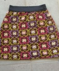 free - Simple fleece skirt with elastic waist