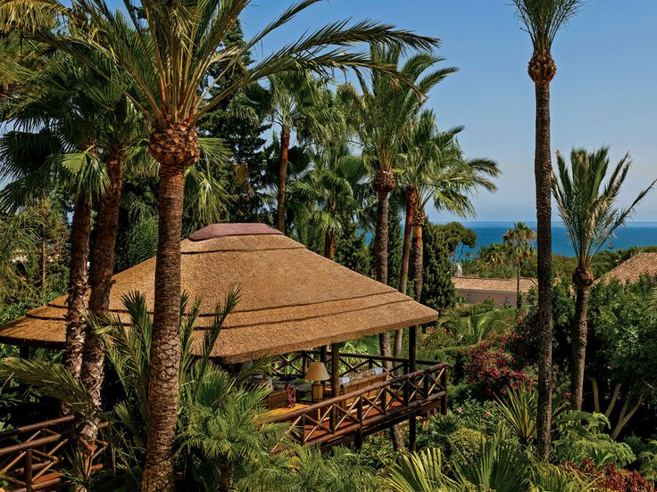 Add a thatched gazebo to your outdoor space! Timber and thatch have a unique natural charm that blends wonderfully into any garden!