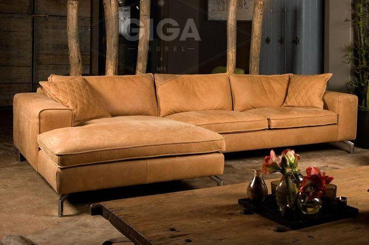 Betaalbare luxe leren banken koopt u bij Giga meubel