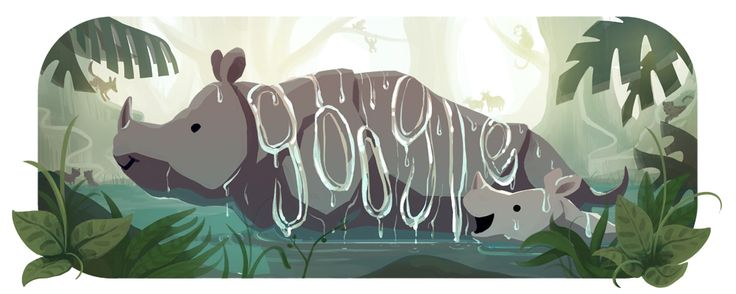 25th Anniversary of Ujung Kulon Park. There are only about 50 Javan rhinos left in the world, and on 26 February 2017, Google honors their home: Ujung Kulon, a wildlife refuge at the westernmost tip of Java, Undonesia.