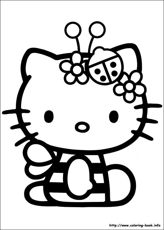 hello kitty coloring picture - Coloring Pages Kitty Nerd