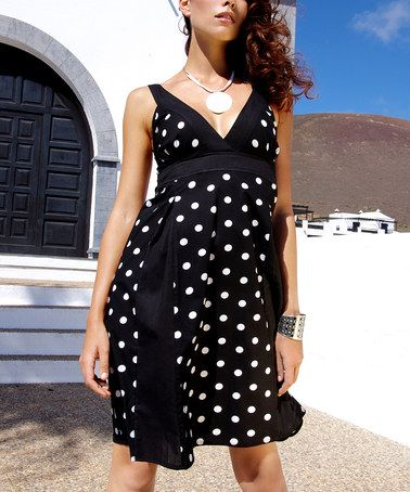 Take a look at this Black Polka Dot Dress by Aller Simplement on #zulily today! $22.99/$42.00