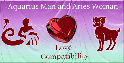 best relationship match for aries man and aquarius