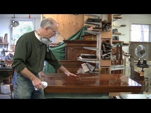 Repairing Veneer on a Midcentury Tabletop - Thomas Johnson Antique Furniture Restoration - YouTube