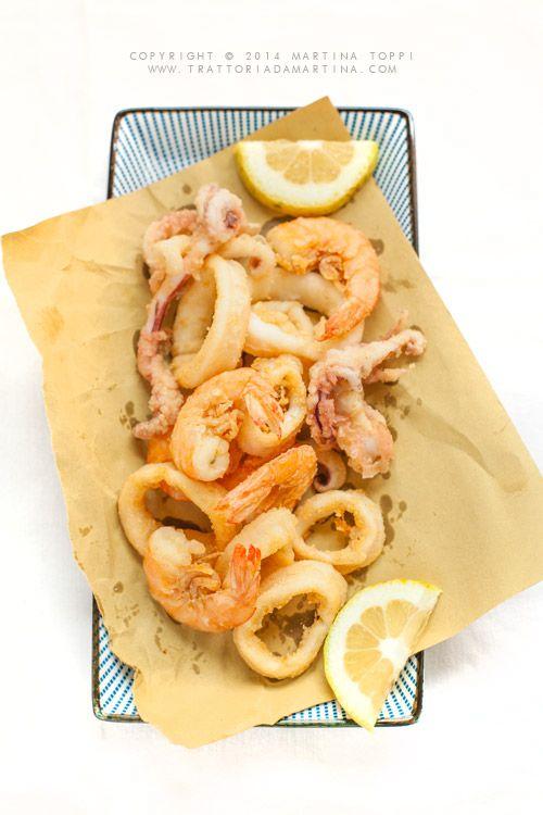 Gamberi e calamari fritti