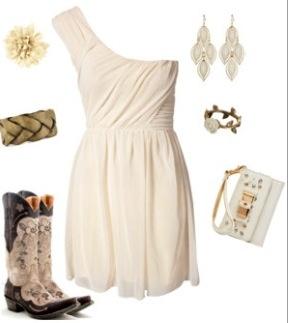 Country girl wedding rehearsal dress...