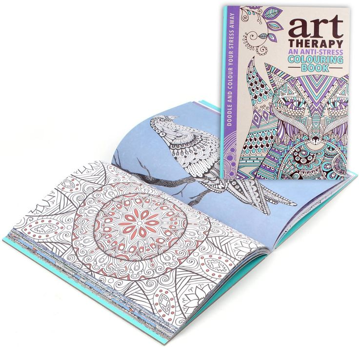 Art Therapy Coloring Book And Pencils The Colouring Hobbycraft Crafty