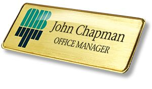 These modern looking Metal gold and silver name badges can help create the right impression and add a very classy touch to your companies image. Our Metal name badges are extremely durable and high quality made from elegant aluminum. It can be printed in full colour, available in brushed silver, bright silver, brushed gold, bright gold with two border options, Gold & Silver.