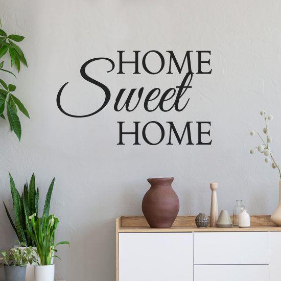 Muursticker Home Sweet Home.Muursticker Home Sweet Home In 2019 Woonkamer Muurstickers