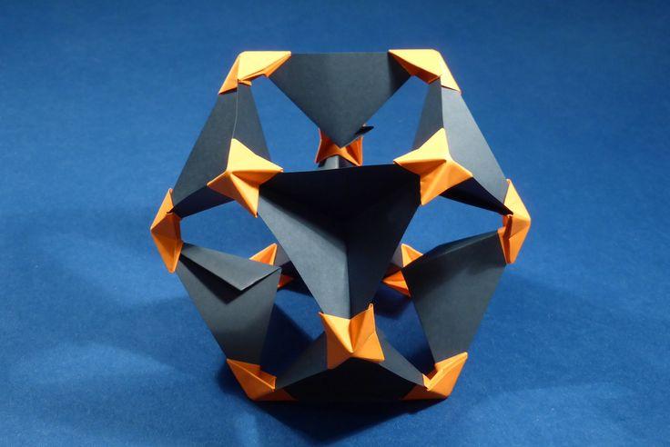 Cuboctahedron - Pyramid Vertex Module (PVM), inverted unit assembly