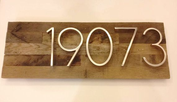 Rustic Address Plaque made from Reclaimed door MadeWithBeerInHand