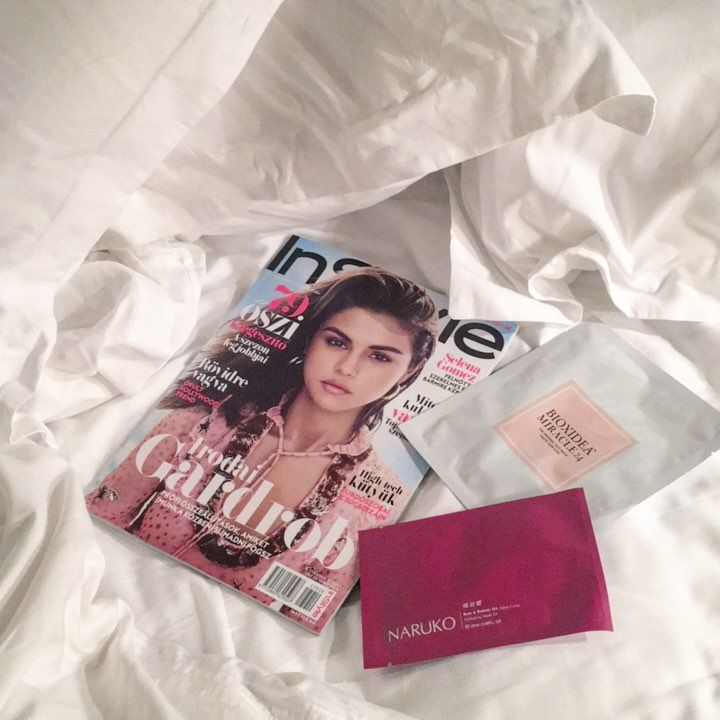 "Spotted! BIOXIDEA via InStyle Magyarország (@instyle_hungary) on Instagram: ""Let's stay in bed today! 😜#instylehungary #bioxidea #naruko #facemask #beautyeditorschoice"""