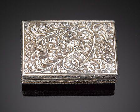 Antique Silver Boxes, Jeweled Box, Antique Compact ~ M.S. Rau Antiques