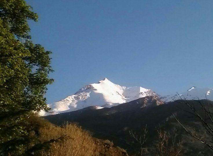 Panorama sul monte Rocciamelone in Valle di Susa dal balcone del nostro bed and breakfast. http://www.bblacucciadisusy.it