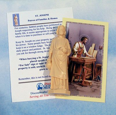 bless your home with this saint joseph home sale kit containing a saint joseph statue a story. Black Bedroom Furniture Sets. Home Design Ideas