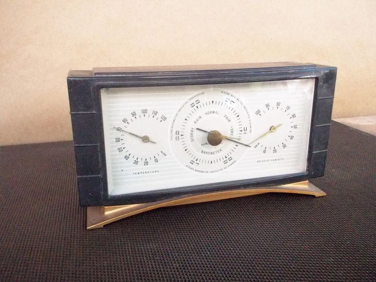 Vintage Airguide Art Deco Desktop Weather Station (Barometer Humidity Temperature) by ObjetLuv on Etsy