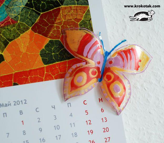 motýl z pet lahve