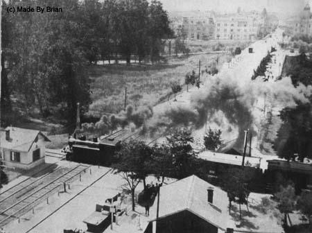 Timisoara - Calea ferata. bariera Piata Victoriei. In departare se vede Piata Maria - 1932