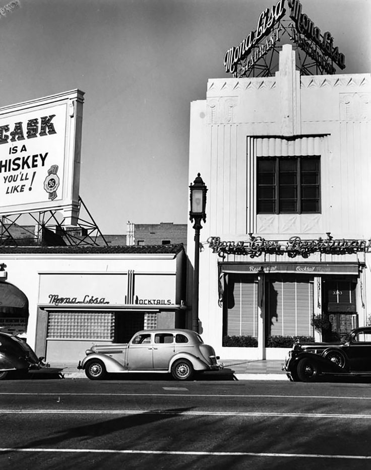 The Mona Lisa Restaurant was once located at 3343 Wilshire Blvd. east of the Gaylord Apartments and across the street from the Ambassador Hotel bungalows. Photo taken in 1937. (LAPL 00008603) Bizarre Los Angeles