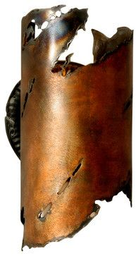 EARTHEN ] SC_1510TO_CPLR wall light sconce, sculpture, rustic, southwest rustic-outdoor-wall-art
