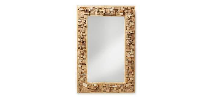 Espejo Mandalay, rectangular en mosaicos de madera de teka!! ¿Que os parece? #diseño #decoración