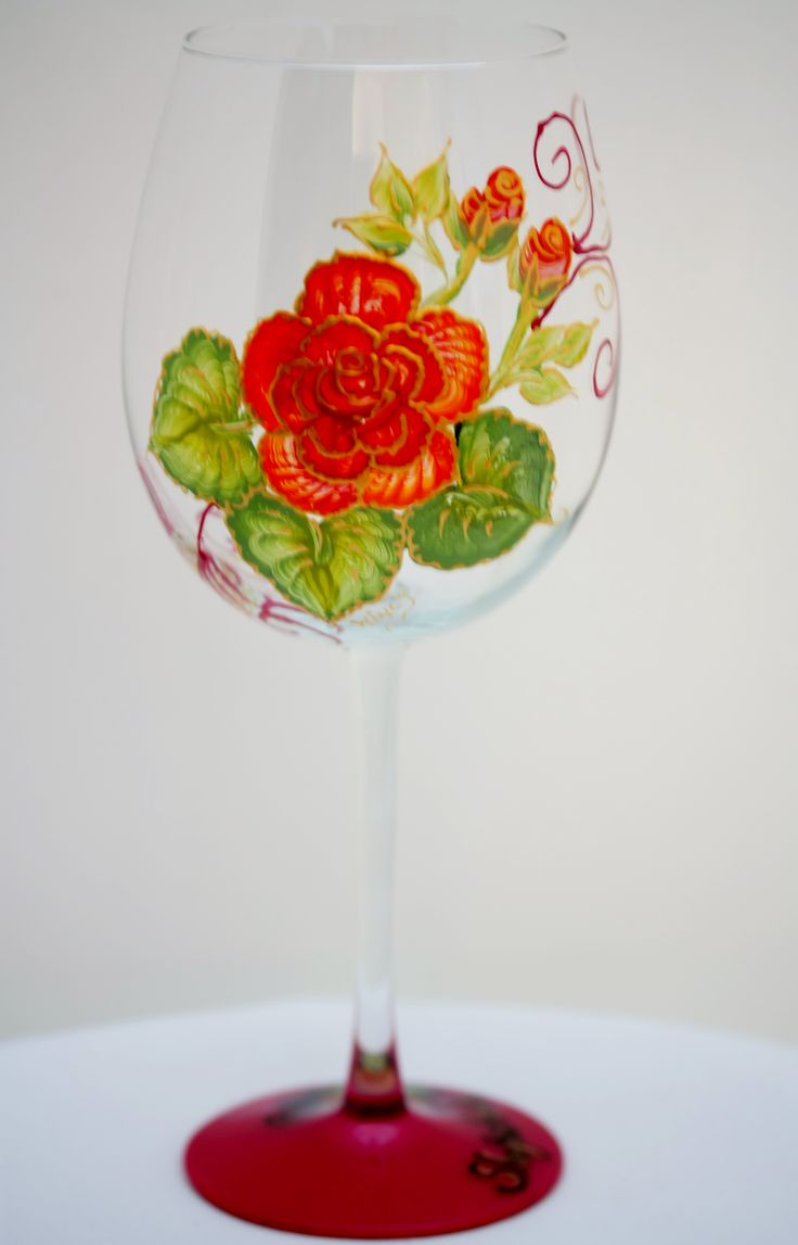 Hand Painted Wine Glasses | Hand Painted Glasses, Painted Wine Glasses, Bridal Party Gifts ...