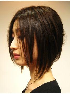 こんな髪型したいな〜。もう少しのばさないとサイドが足りない気がする。