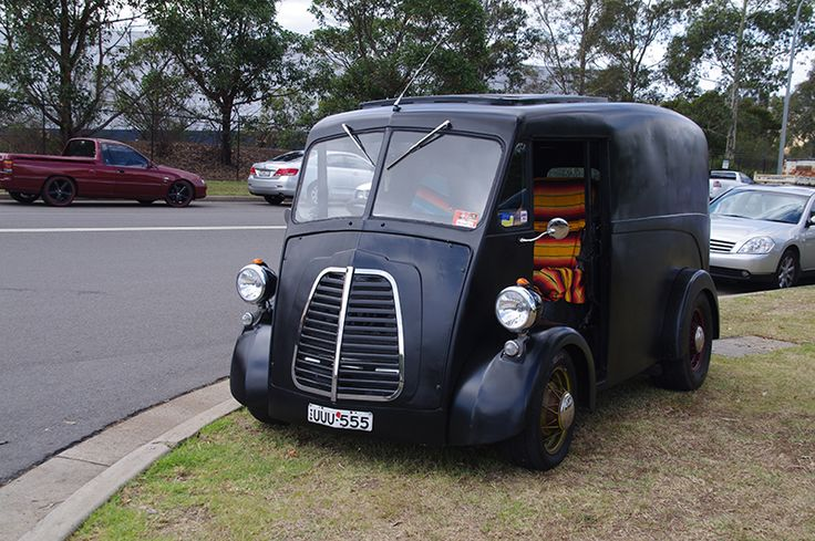 My brother in law builds hot rods - this is one. It was a Bedford bread van from the 50's