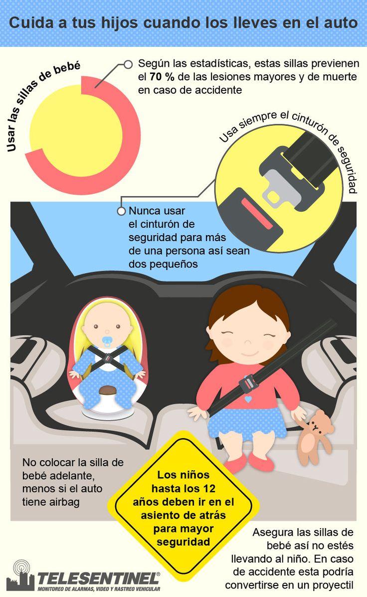 Cuida de los pequeños cuando los lleves en el auto.  Evita accidentes.. Telesentinel es #protección y #seguridad www.telesentinel.com