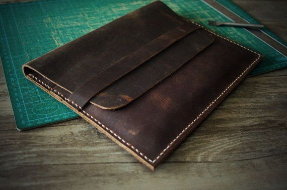 """Macbook Sleeve Leather Case Laptop Air Bag, Hand Stitched 12"""" New MacBook Covers, MacBook Retina Bag Sleeves - Custom All Laptop Case"""