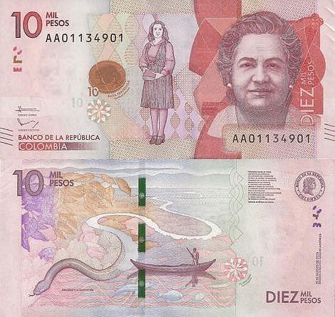 Colombia 10000 Pesos 2015