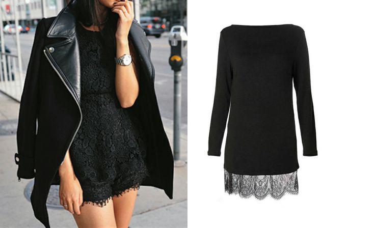 Chip&Chip lace black dress