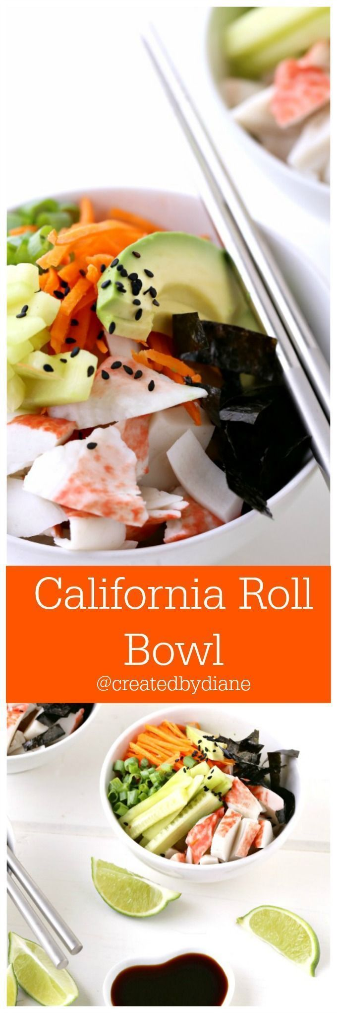 California Roll Bowl it's the perfect easiest Cali Roll to make at home /createdbydiane/