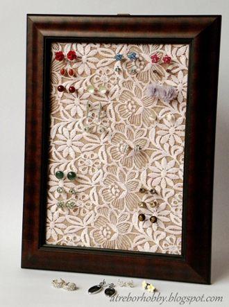 Oltre 1000 idee su cornice fai da te su pinterest - Creare porta orecchini ...