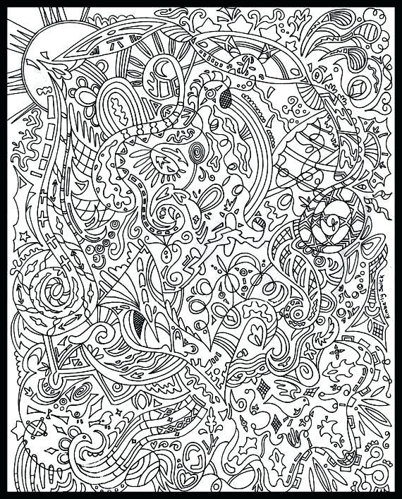 free printable advanced coloring pages # 1