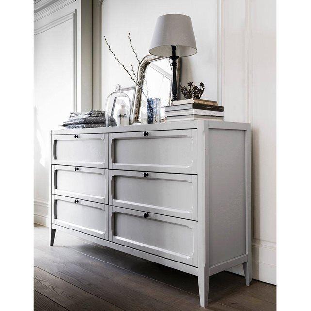 Commode 6 tiroirs, Eugénie La Redoute Interieurs (Gris clair)