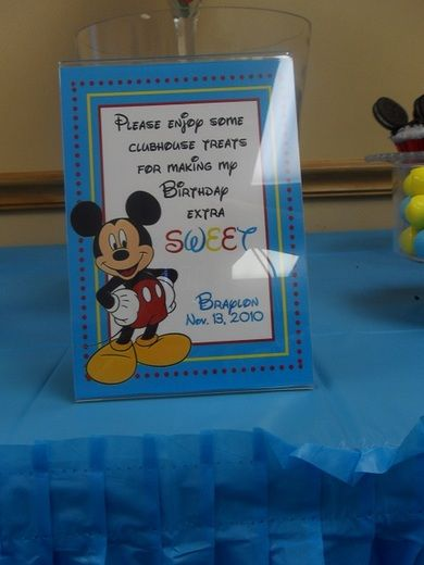 Candy table sign idea