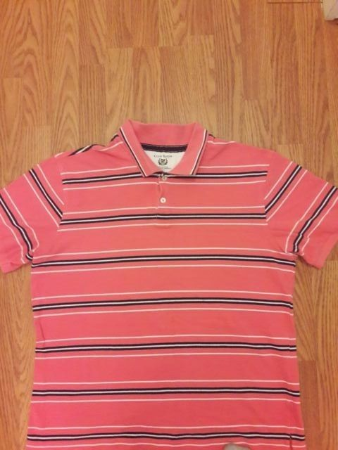 CLUB ROOM Men's Polo Shirt Short Sleeve Size XL  #ClubRoom #PoloRugby