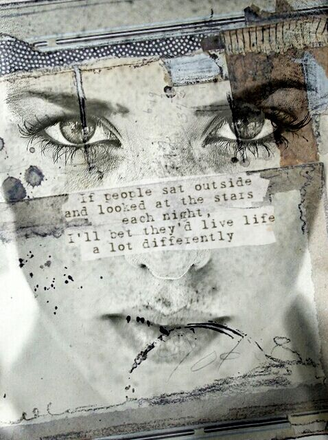 Intriguing collage of text, photography and layering  Emma Silk