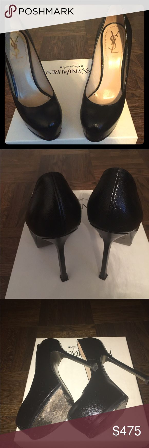 YSL black Tribtoo pumps, 💯 authentic, sz US7/EU37 ICONIC AND DISCONTINUED. Excellent condition! With box and extra set of heel replacement caps. You can wear them in the boardroom or the bedroom 👠👠 Yves Saint Laurent Shoes Heels