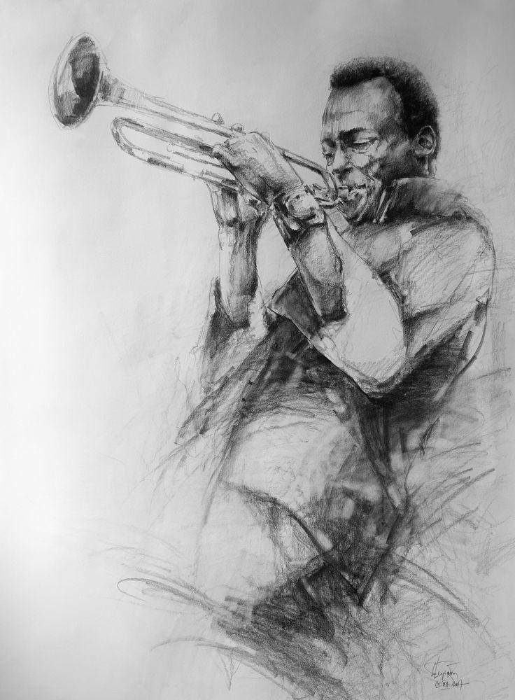 Miles Davis pencil