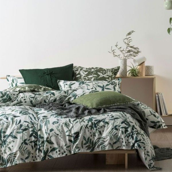 Linen House Manzanilla Green Quilt Cover Set Bedding Bed Linen Inspired By The Natural Landscape And T Hotel Bedroom Design Bed Linens Luxury Luxury Bedding