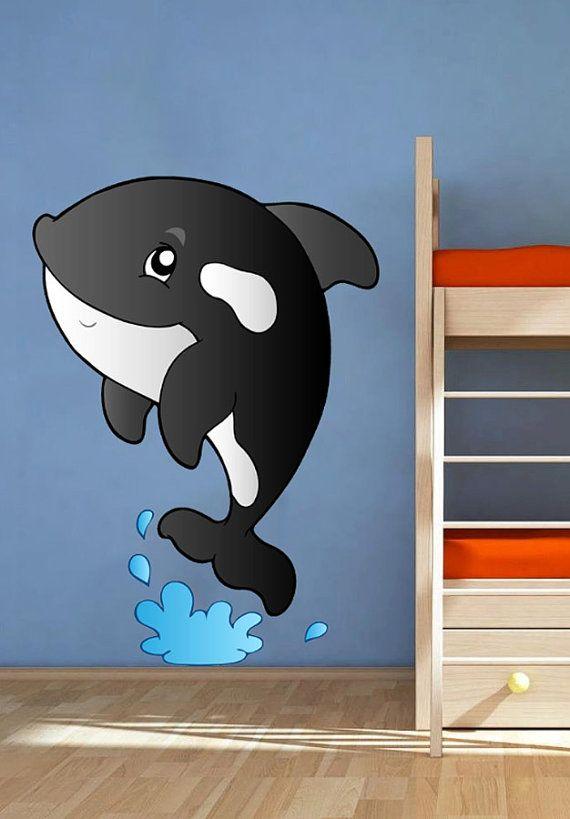 Killer Whale Cartonn Kids Children Nursery  Full от uBerDecals