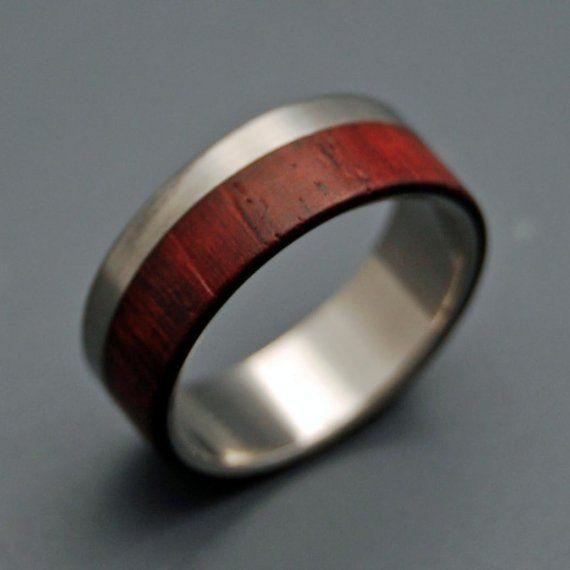 Mens ring wood & metal