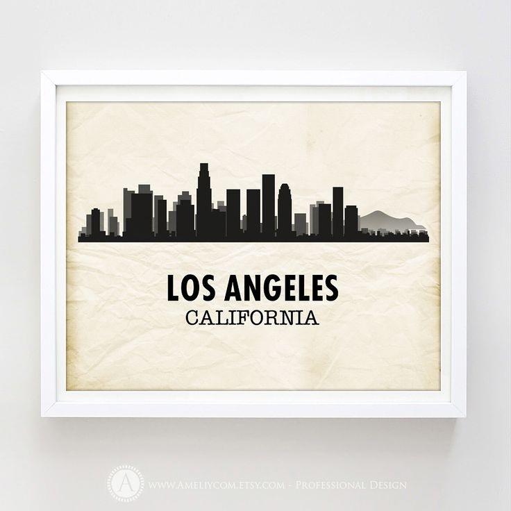 https://seethis.co/6AMBk/ #Printable #LosAngeles #Skyline #Silhouette #Print #Decoration #WallArt #HomeDecor