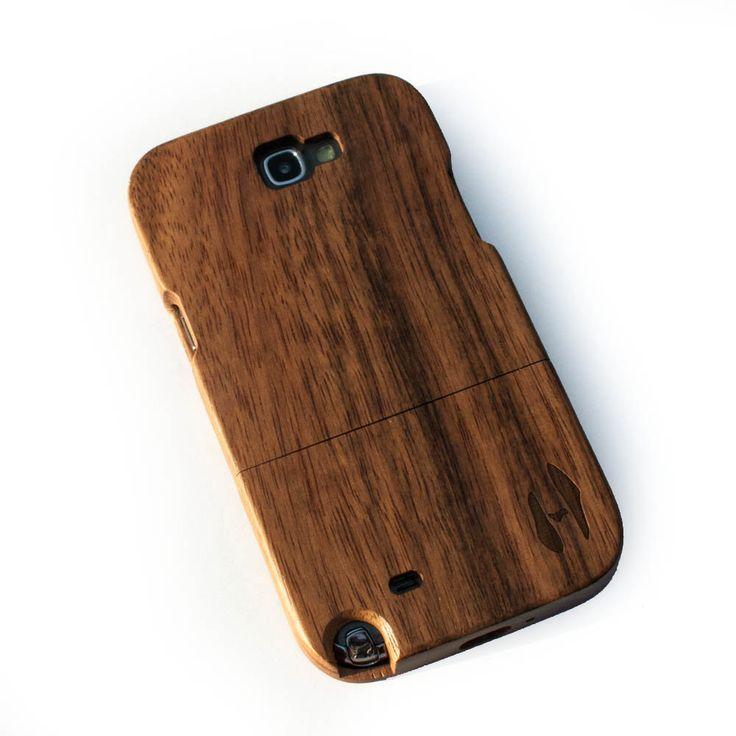 Houten hoesje, iPhone 5 / 5S - donker notenhout door HoentjenCreatie op Etsy